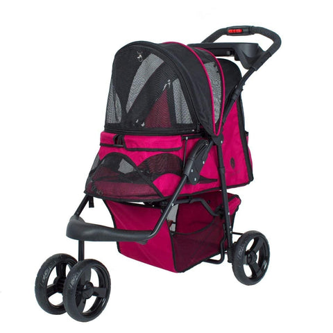 Petique ST01100103 Razzberry Pet Stroller, Razzberry, One Size