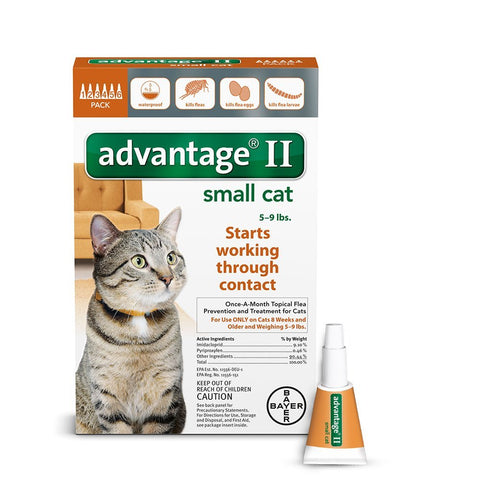 Advantage ORANGE-10-6 Flea Control for Cats 1-9 lbs 6 Month Supply