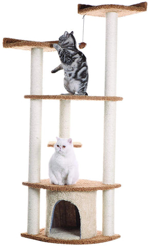 64 in. Armarkat Cat Tree House Condo Furniture - A6403