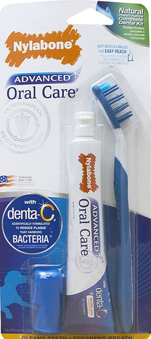 Nylabone NPD303P Advanced Oral Care Natural Dog Dental Kit