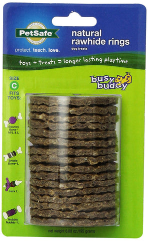PetSafe 17586 Busy Buddy Gnawhide Rings Refill, Large - Peazz Pet
