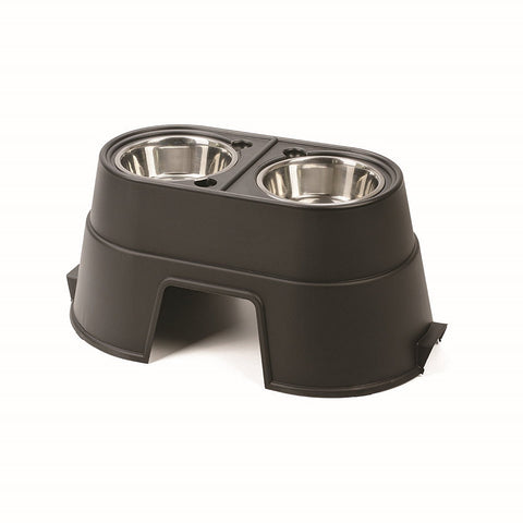 Our Pets SFL12BLK Healthy Pet Diner Elevated Dog Feeder