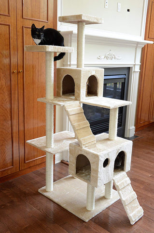 GleePet 70 in. Cat Tree with 2 Ramps