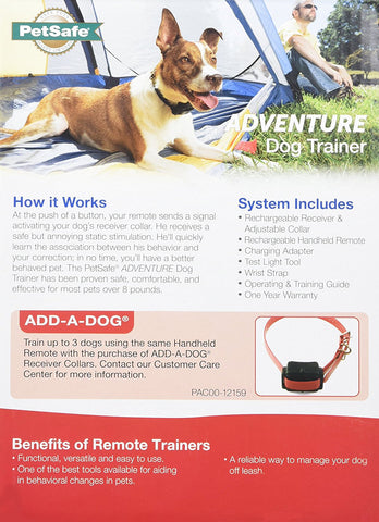 PetSafe PDT00-15102 Adventure Expandable 800 Yard Dog Remote Trainer