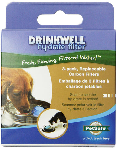 PetSafe PFD17-12905 Drinkwell Hy-drate Replacement Filters 3 pack
