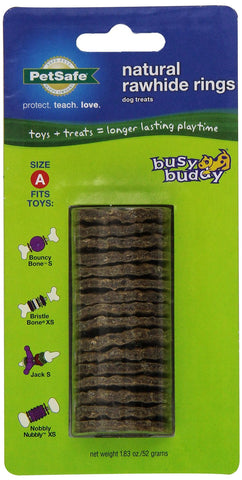 PetSafe 17584 Busy Buddy Gnawhide Rings Refill, Small - Peazz Pet