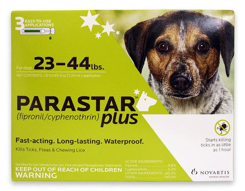 Parastar Plus For Dogs 23-44 lbs, 3 Applications - Peazz Pet