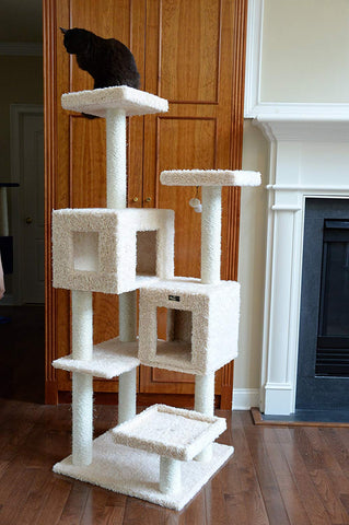 Armarkat A6702 Pet Cat Tree with Two Houses, 67""
