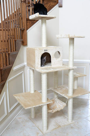 GleePet 68 in. 5 Level Cat Tree with Hammock