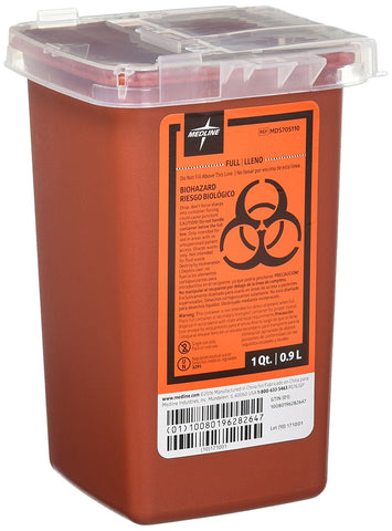Covidien 10005 Sharps Container, 1 Quart