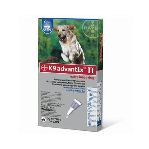 Advantix ADVX-BLUE-100-4 Flea and Tick Control for Dogs Over 55 lbs 4 Month Supply