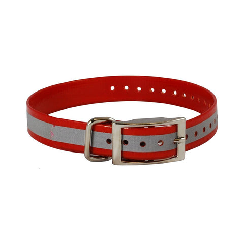 The Buzzard's Roost BUZZ-COLLAR-R-R Reflective Collar Strap 1""