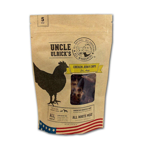 Uncle Ulrick's CKN-CHP-5OZ All Natural and All American Chicken Jerky Chips 5 ounces