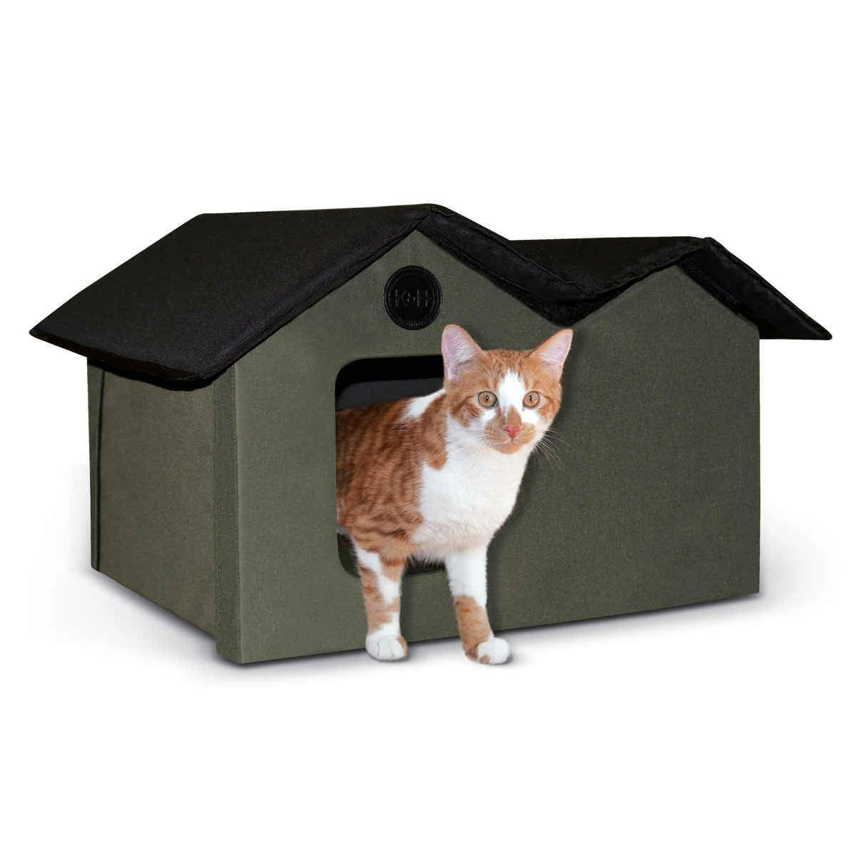 K&H Manufacturing Kh3971 Unheated Outdoor Kitty House Extra Wide