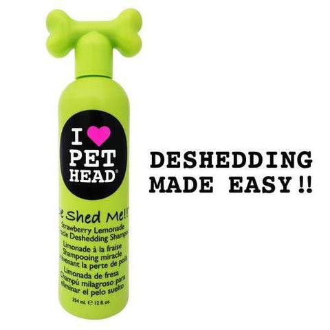 Pet Head PH10114 De Shed Me Miracle Deshedding Shampoo Strawberry Lemonade 12oz