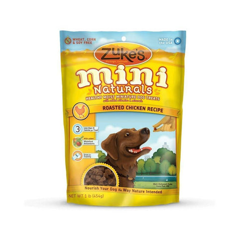 Zuke's Z-33021 Mini Naturals Moist Miniature Treat for Dogs Roasted Chicken 1 lbs.