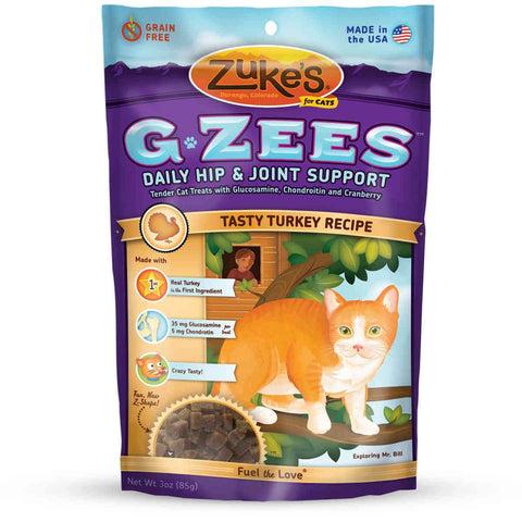 Zuke's Z-91058 Cat G-Zees Daily Hip and Joint Support Turkey 3oz
