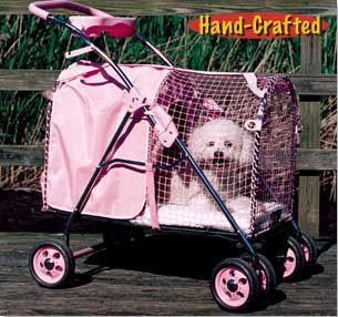 Kittywalk Fifth Ave Pink Pet Stroller SUV (KWPS PINK SUV) - Peazz Pet - 2