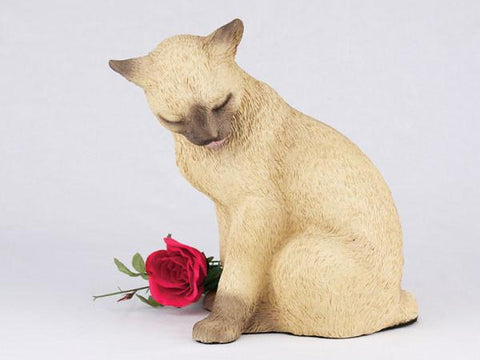 Cat CS2710 Siamese Urn - Peazz Pet