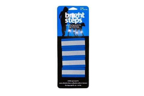 Bergan BER-88414 Bright Steps Reflective Leg Bands Large Blue - Peazz.com