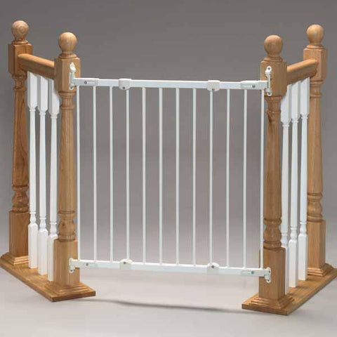 KidCo G2100 Safeway Black Wall Mount Stair Top Gate Angle Mount - Peazz.com - 1