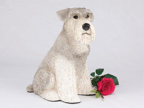 Schnauzer, Ears Down CS2777 Gray Urn - Peazz Pet