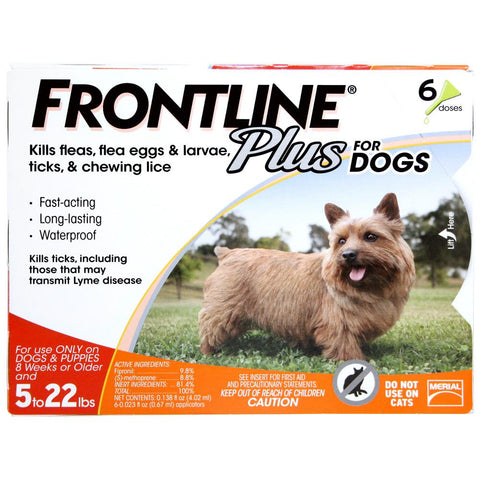 Frontline Plus, Dogs 11-22 lbs (6 Doses) - Peazz Pet