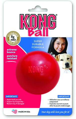 Kong Ball Small Red (KB2) - Peazz Pet