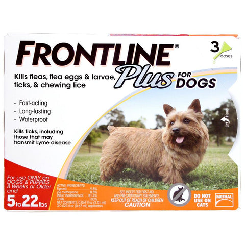Frontline Plus, Dogs 11-22 lbs (3 Doses) - Peazz Pet
