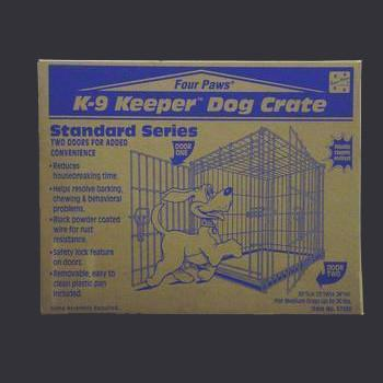 K - 9 Keeper Standard Crate Dbl Door 30 X 23 X 24 - Peazz Pet