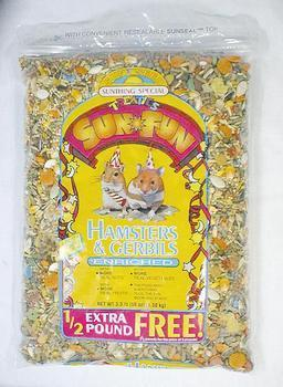 Hamster/gerbil Sun Fun 3.5lb (6pc) - Peazz Pet