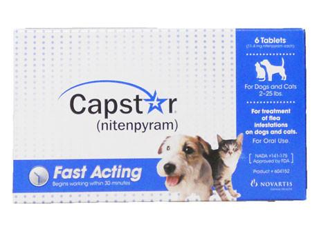 Capstar for Cats and Dogs 2-25 lbs, 6 Tablets - Peazz Pet
