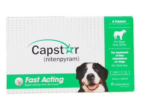 Capstar for Cats & Dogs over 25 lbs, 6 Tablets - Peazz Pet