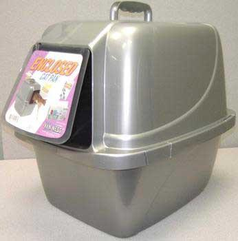 Cp - 6 Cat Pan With Hood Enclosure - Large Assorted (CP6) - Peazz Pet