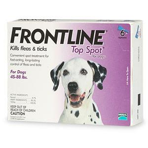 Frontline Top Spot, Dog 45-88 lbs (6 Doses) - Peazz Pet