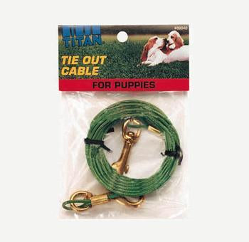 C Cable Tieout Puppy 12ft - Peazz Pet