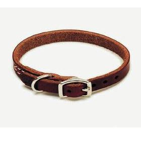 "C Lth Latigo Collar 3/4""x20"" - Peazz Pet"