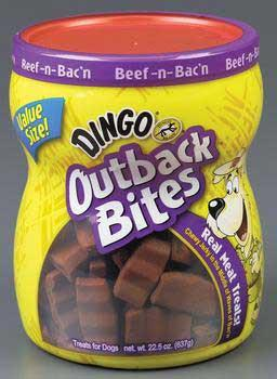Dingo Outback Bacon Bites - Beef & Bacon 22.5 Oz - Peazz Pet