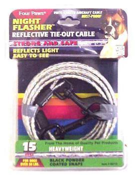 15ft Cable Tieout Night Flasher - Peazz Pet