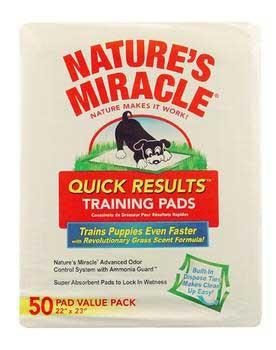 Nature's Miracle Quick Results Training Pads 50 Count (5250) - Peazz Pet