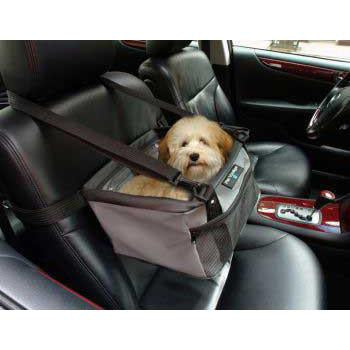 Pet Viewer Car Seat 13 x 10 x 7.5 - Gray - Peazz Pet