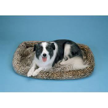 "Prec Snoozy Cheetah Print Crate Bed 25"" X 20"" - Peazz Pet"