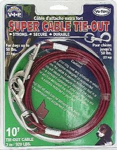 920lb Tieout Cable 10ft - Peazz Pet
