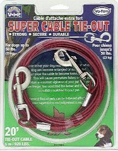 920lb Tieout Cable 20ft - Peazz Pet