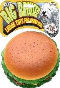 "Vinyl ""big Bruiser"" Burger W/works - Peazz Pet"