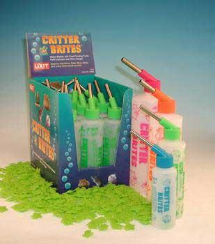 Lixit Critter Brites Water Bottles 4 Oz Day Glow Colors