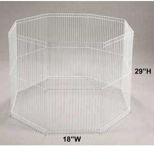 "8 - panel Wire Ferret Playpen 29""h X 18"" - Peazz Pet"