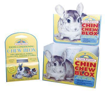 Chinchilla Wood Chew Blox Display (12pc) - Peazz Pet