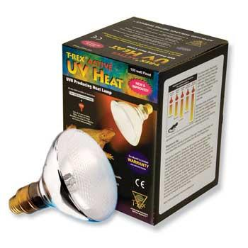 T-Rex Active UV Heat Bulb 100w Flood - Peazz Pet