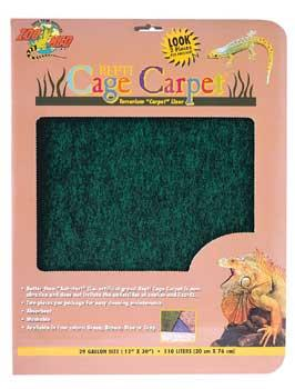 "Terrarium Cage Carpet 48x13"" - Assorted Colors 2pk (CC-55)"